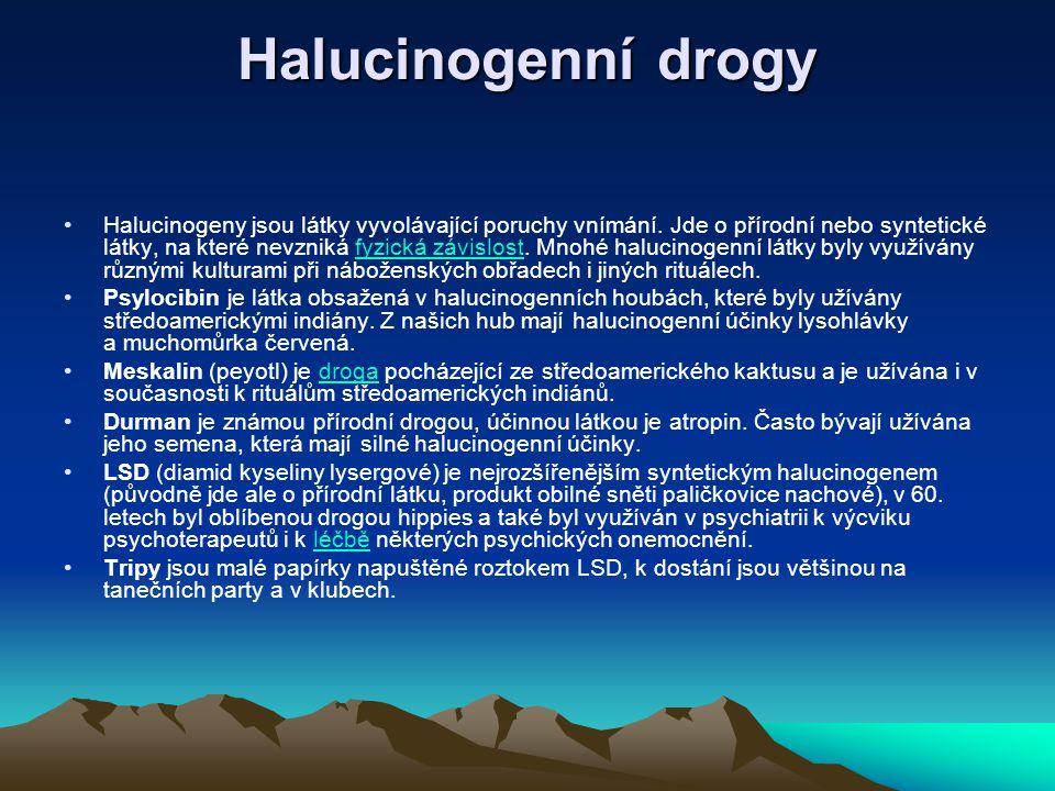 Halucinogenní drogy