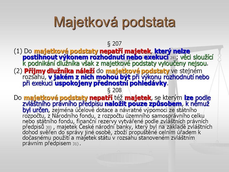 Majetková podstata § 207.