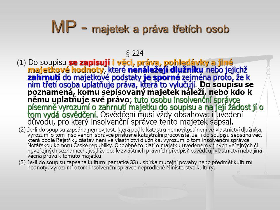 MP - majetek a práva třetích osob