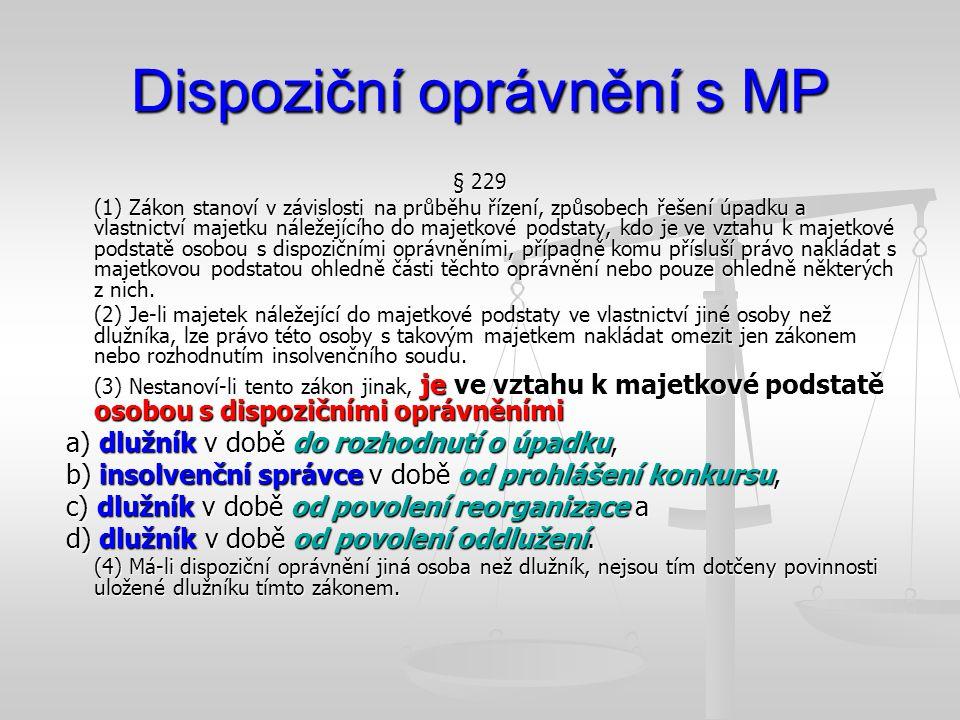 Dispoziční oprávnění s MP