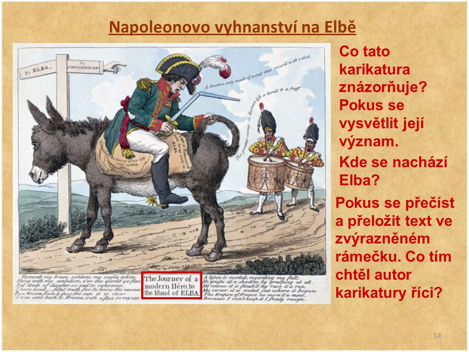 Napoleonovo vyhnanství na Elbě