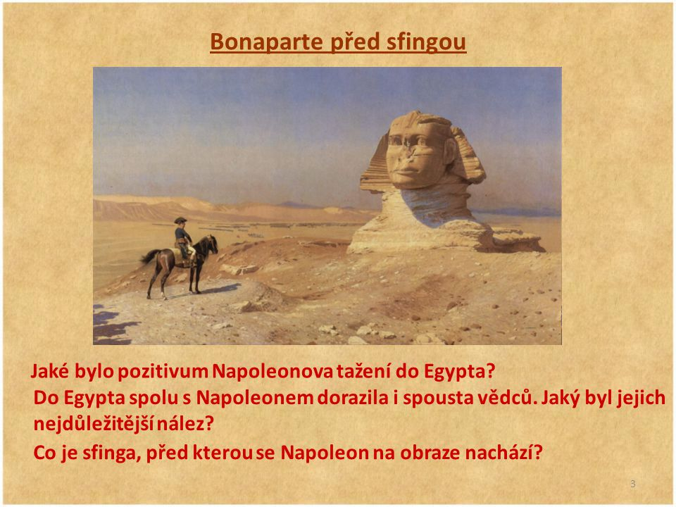 Bonaparte před sfingou