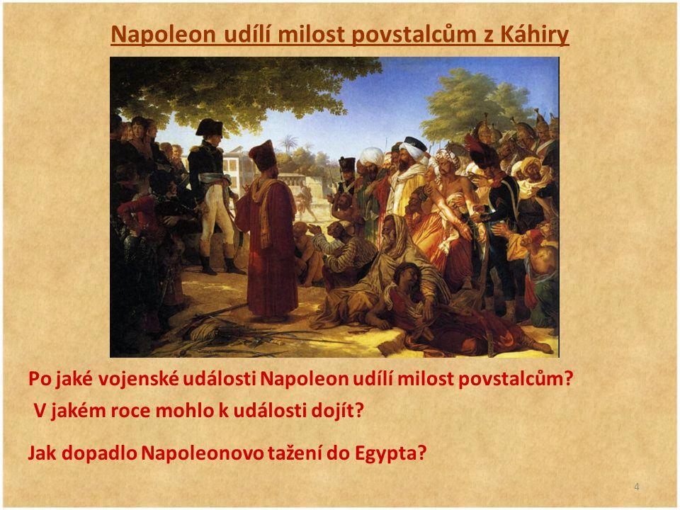 Napoleon udílí milost povstalcům z Káhiry