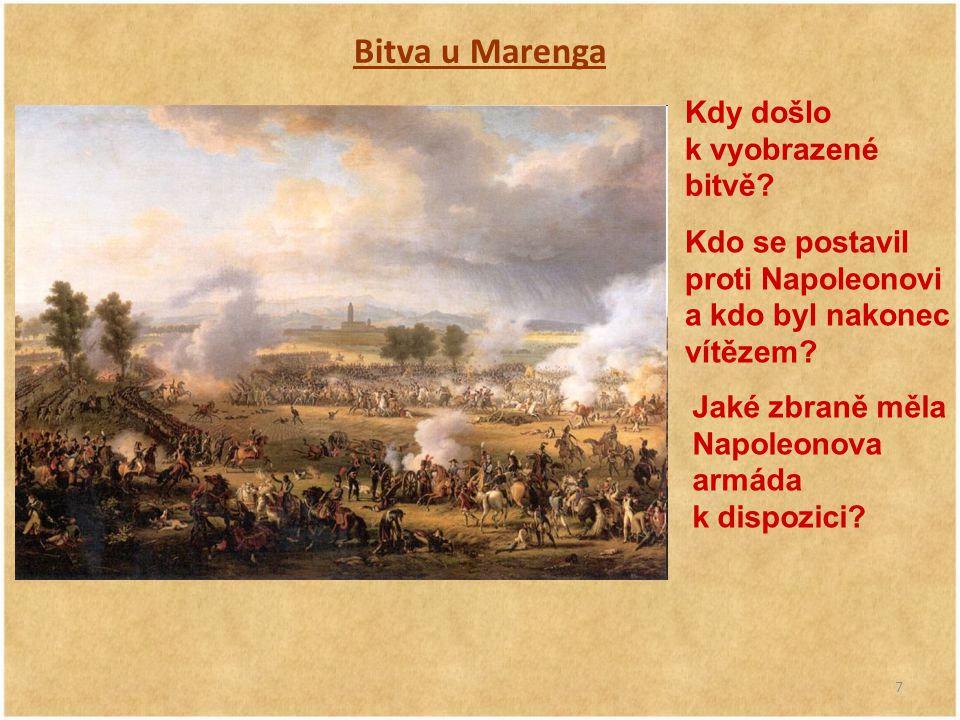 Bitva u Marenga Kdy došlo k vyobrazené bitvě