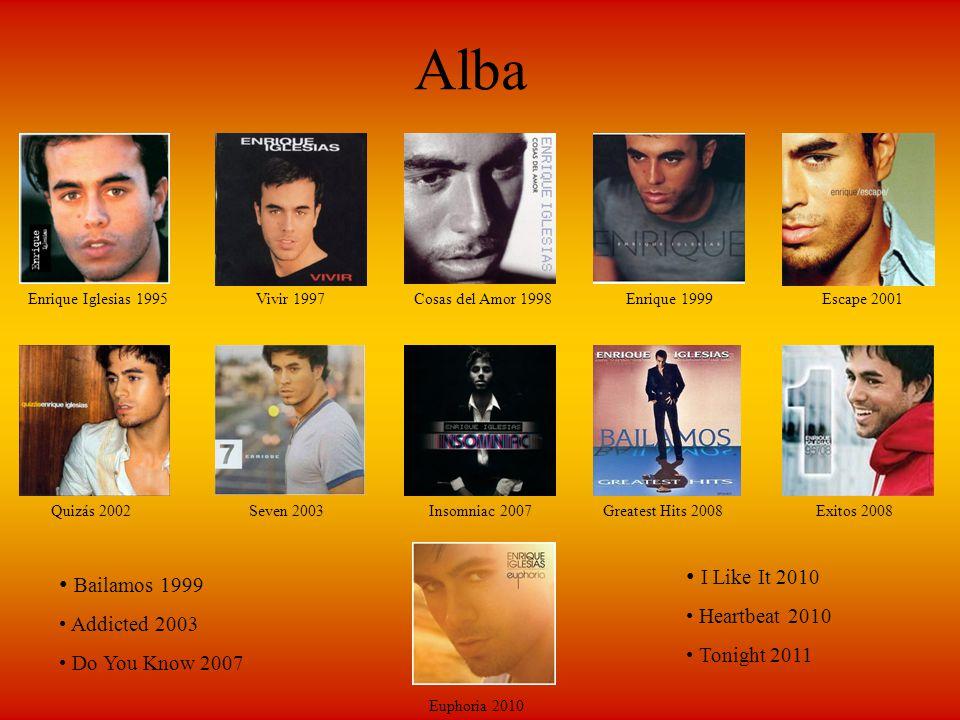 Alba I Like It 2010 Bailamos 1999 Heartbeat 2010 Addicted 2003