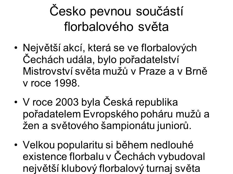 Česko pevnou součástí florbalového světa