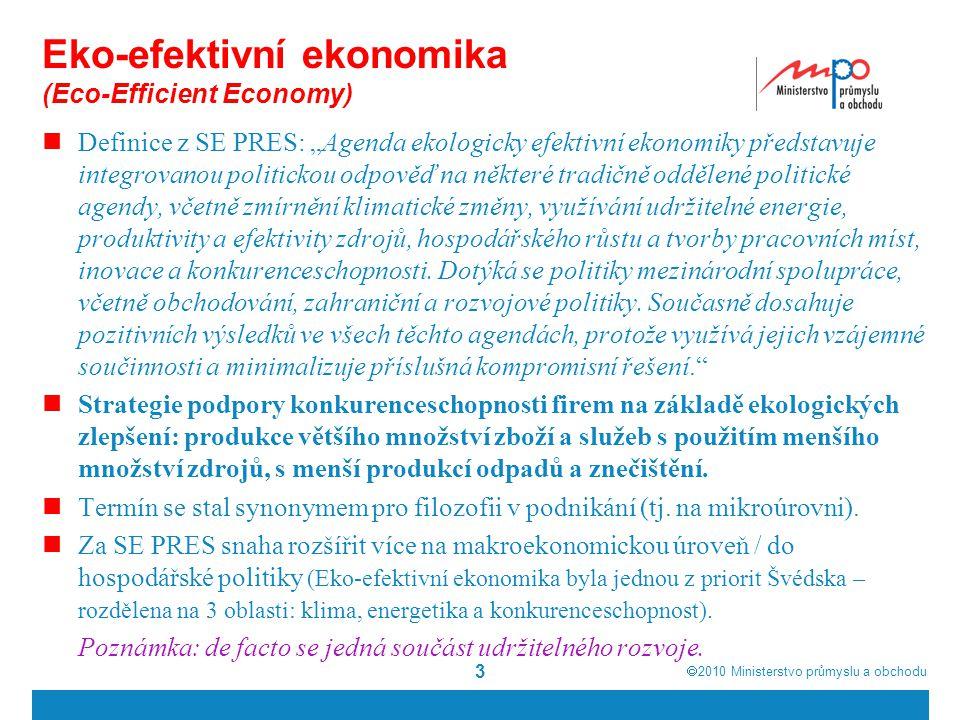 Eko-efektivní ekonomika (Eco-Efficient Economy)