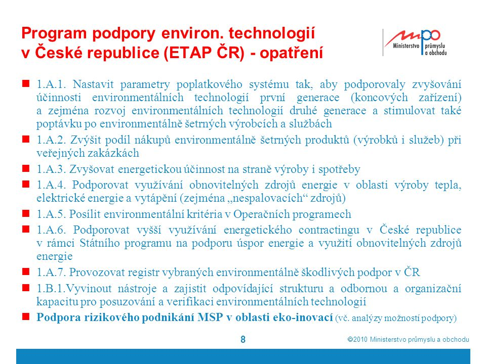 Program podpory environ