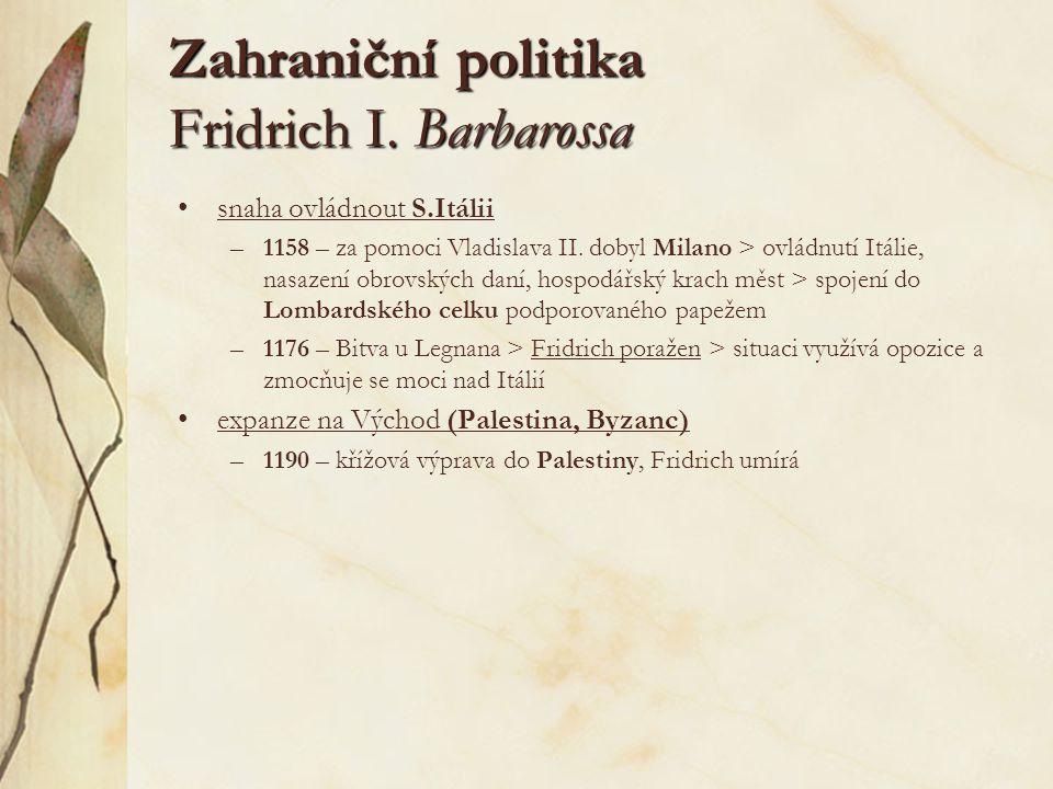 Zahraniční politika Fridrich I. Barbarossa