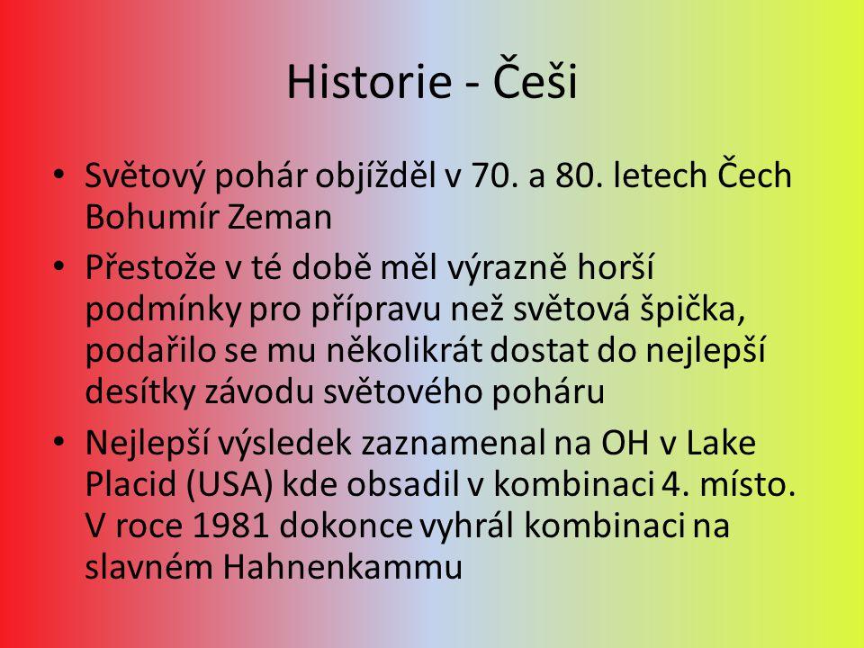 Historie - Češi Světový pohár objížděl v 70. a 80. letech Čech Bohumír Zeman.