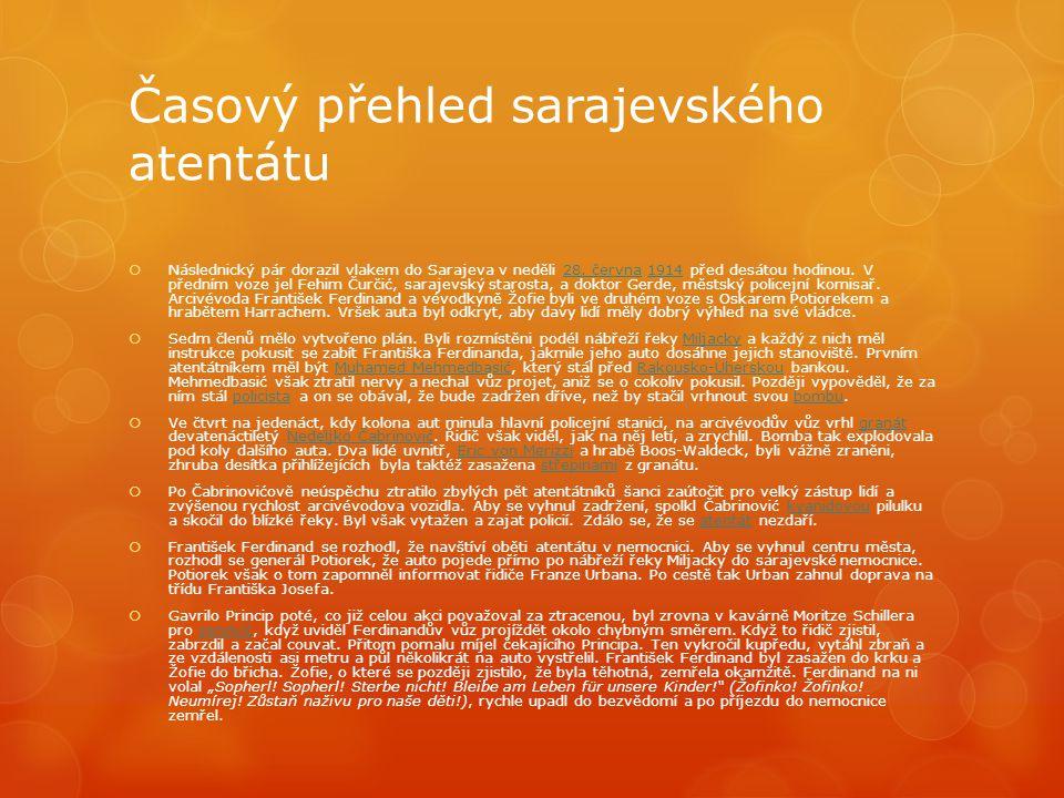 Časový přehled sarajevského atentátu