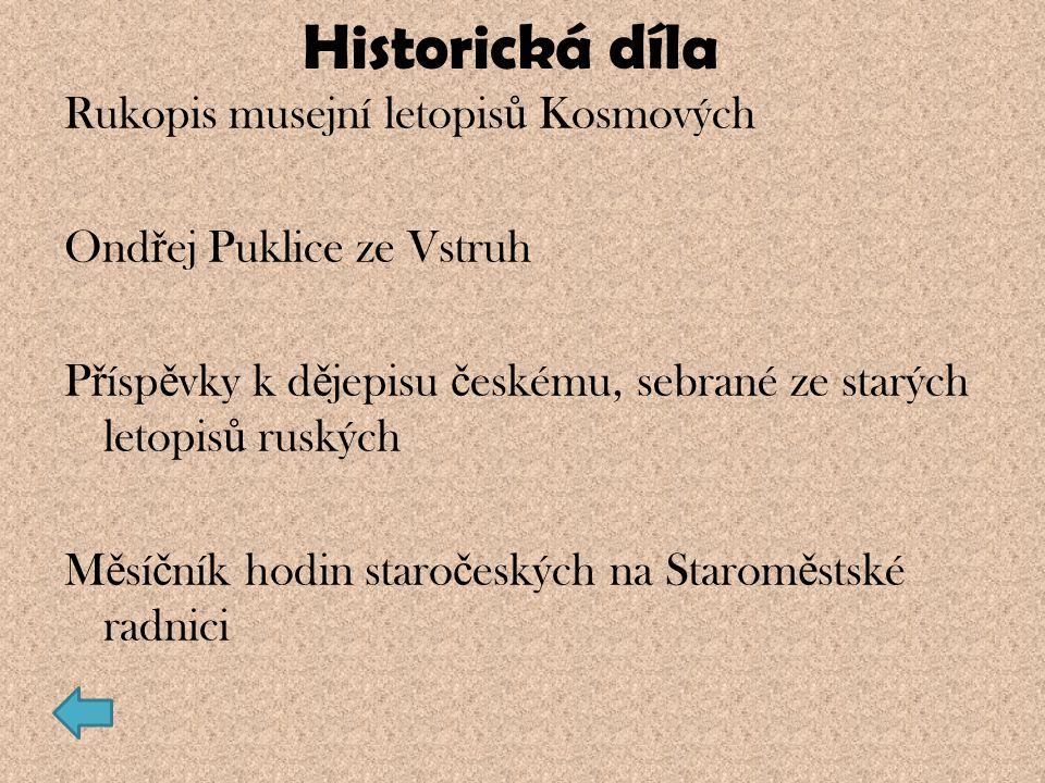 Historická díla