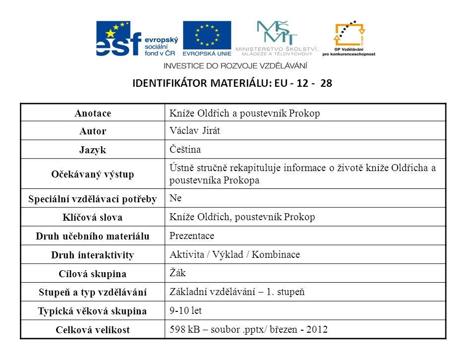 Identifikátor materiálu: EU - 12 - 28