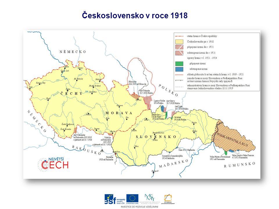 Československo v roce 1918