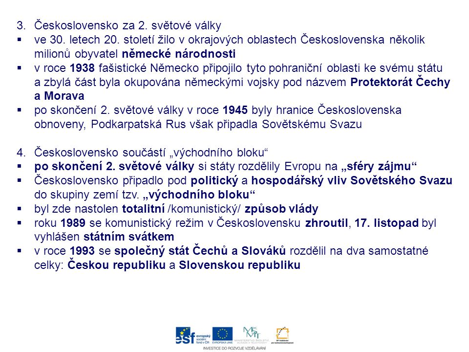 Československo za 2. světové války