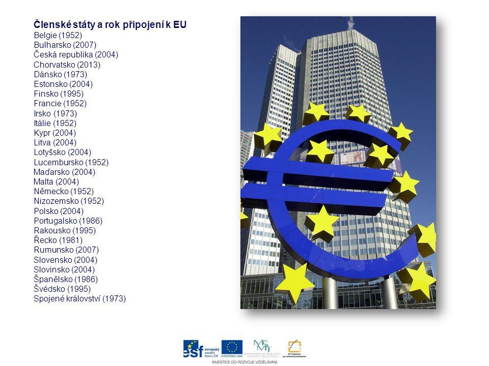 Členské státy a rok připojení k EU