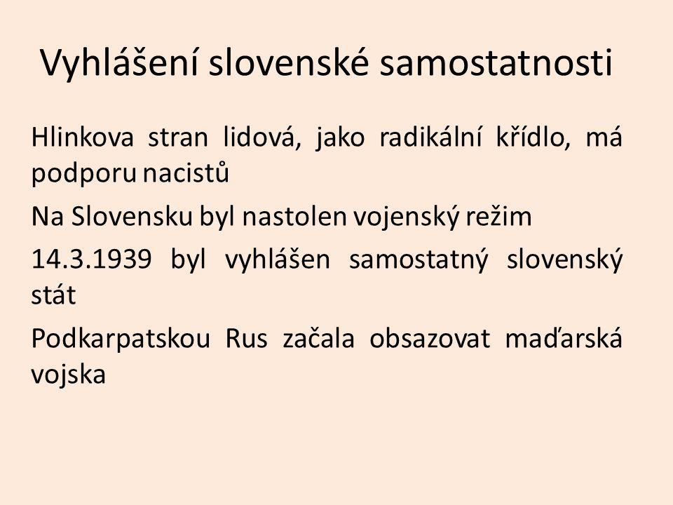 Vyhlášení slovenské samostatnosti