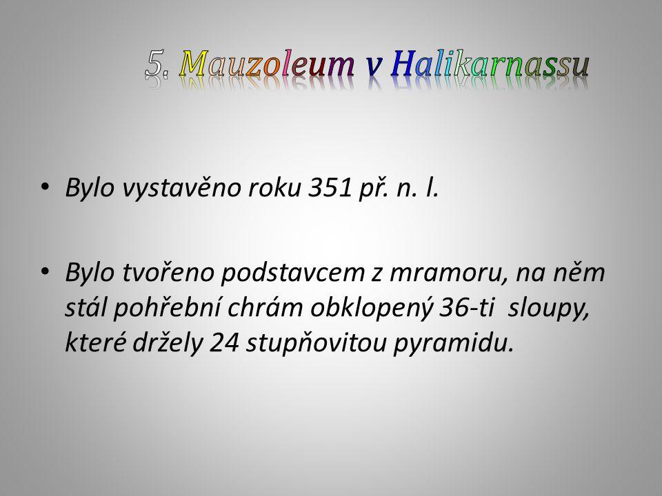 5. Mauzoleum v Halikarnassu