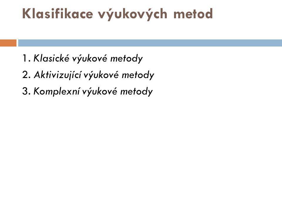 Klasifikace výukových metod