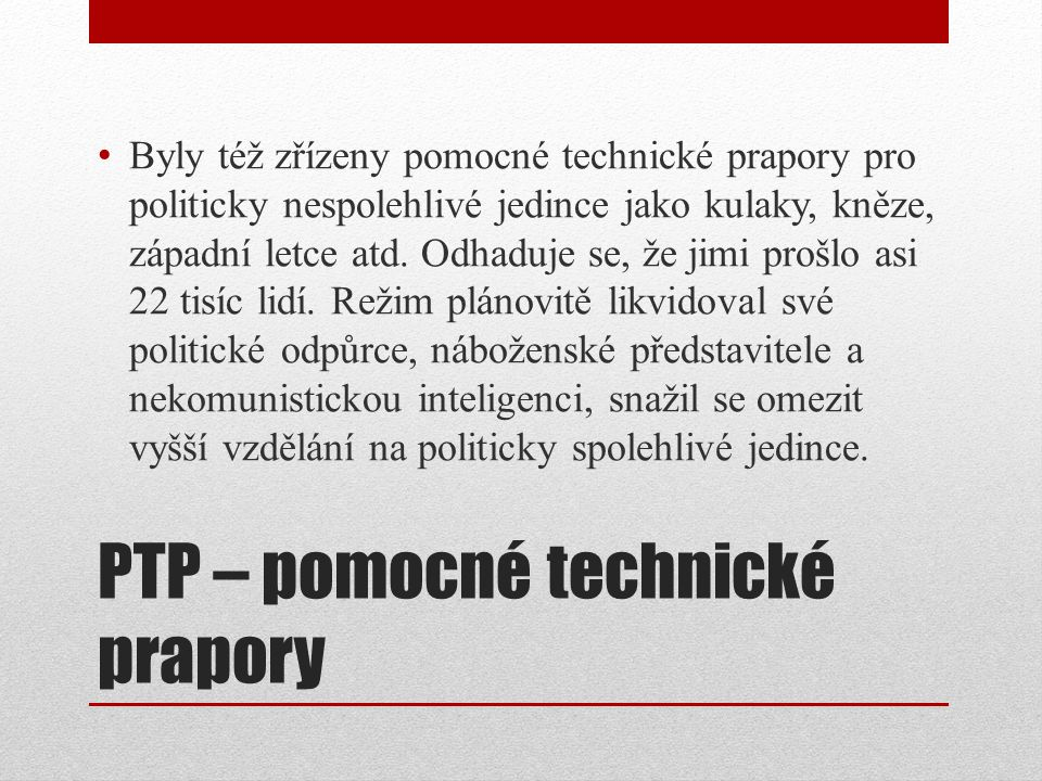 PTP – pomocné technické prapory