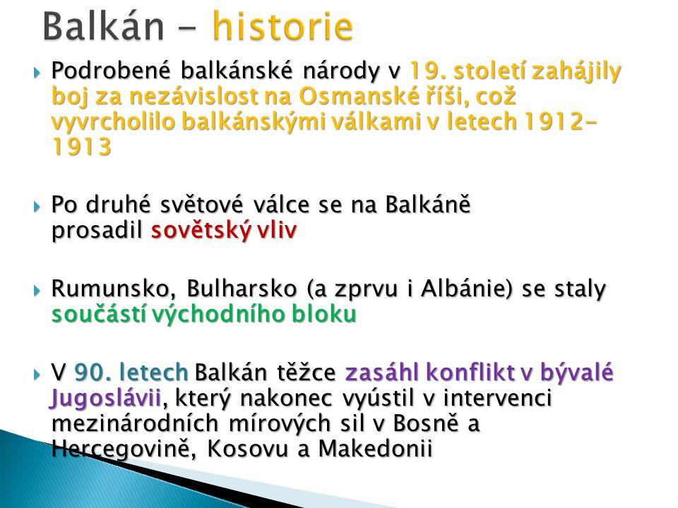 Balkán - historie