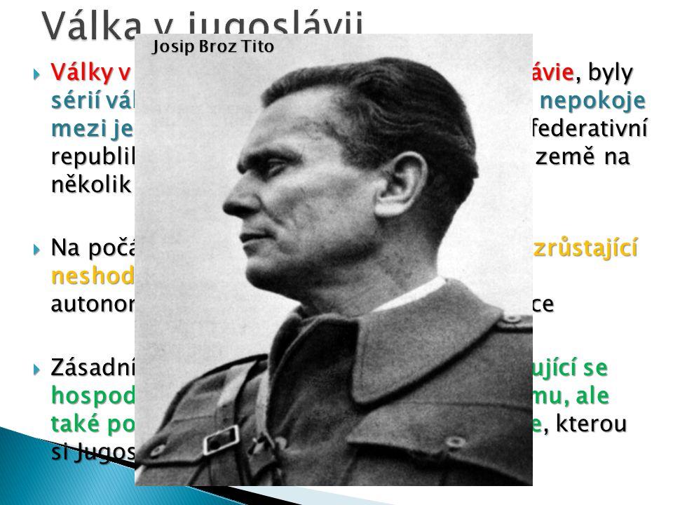 Válka v jugoslávii Josip Broz Tito.