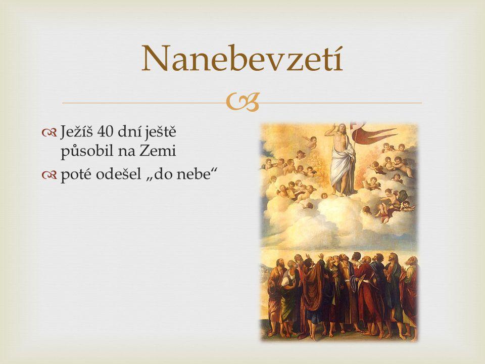 """Nanebevzetí Ježíš 40 dní ještě působil na Zemi poté odešel """"do nebe"""