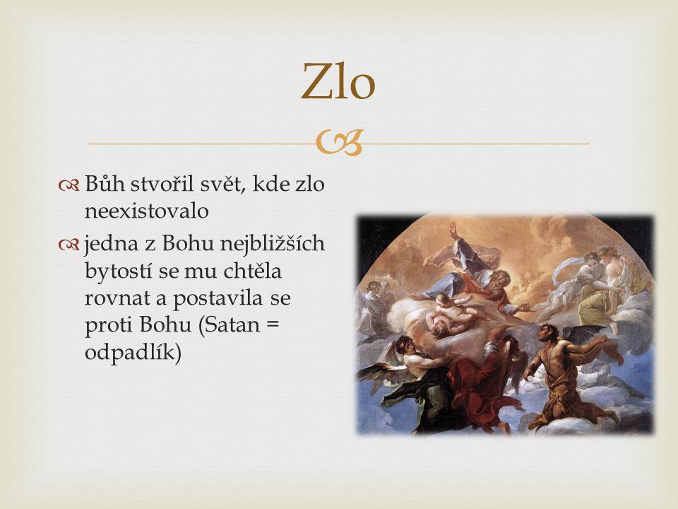 Zlo Bůh stvořil svět, kde zlo neexistovalo
