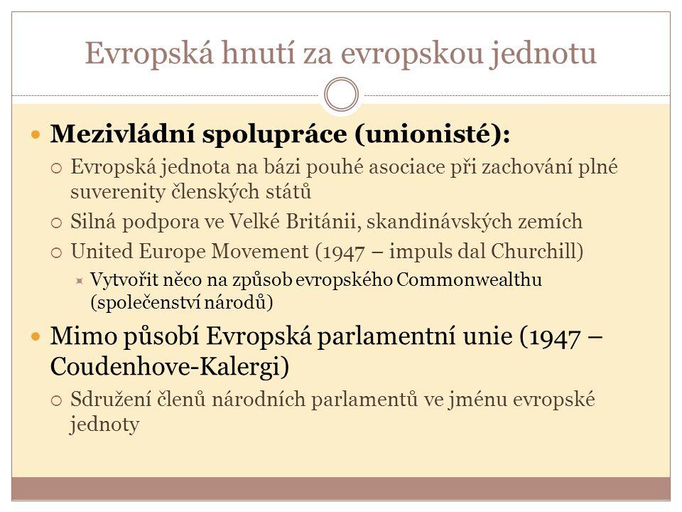 Evropská hnutí za evropskou jednotu