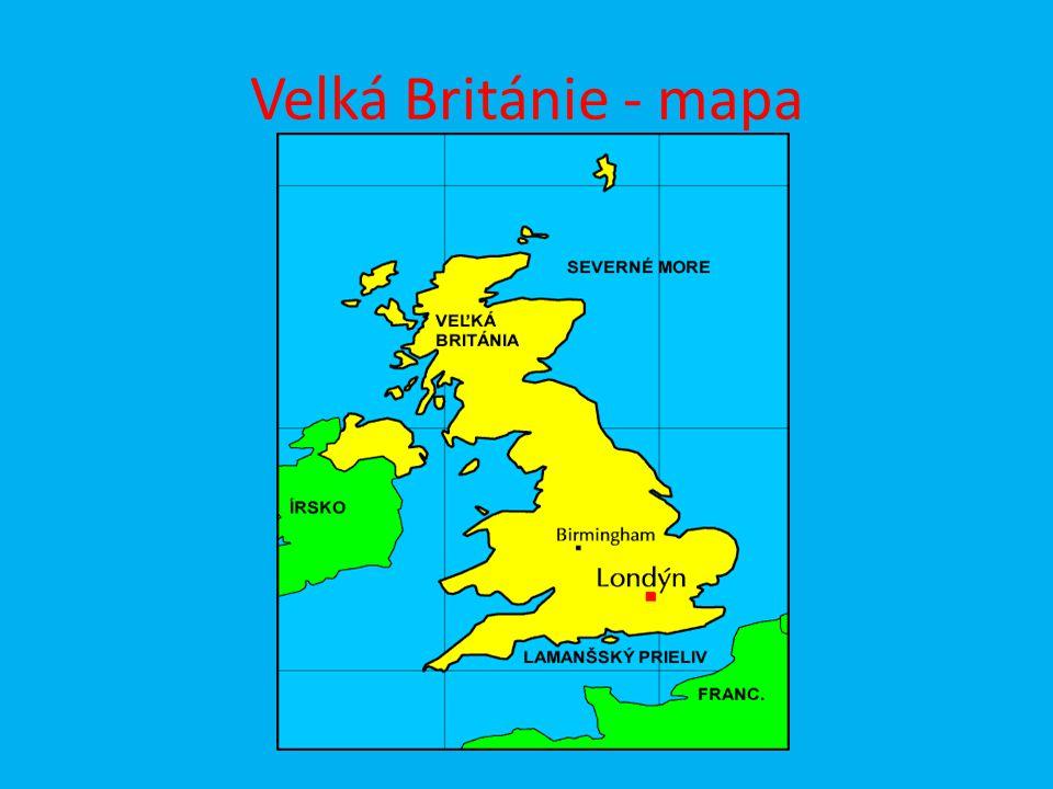 Velká Británie - mapa