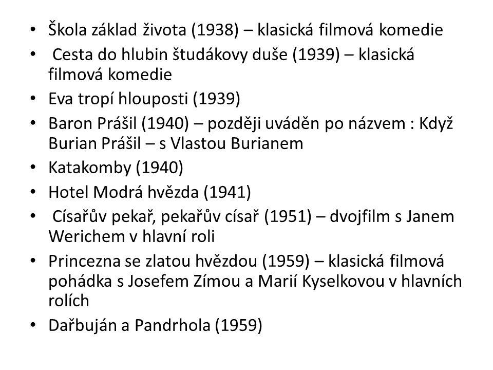 Škola základ života (1938) – klasická filmová komedie