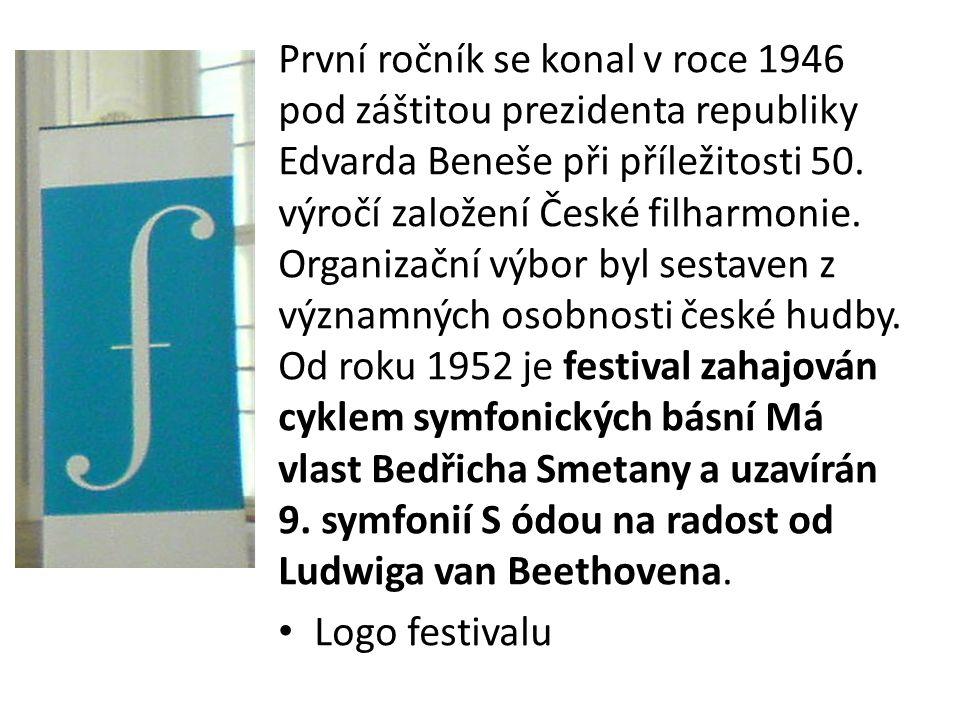 První ročník se konal v roce 1946 pod záštitou prezidenta republiky Edvarda Beneše při příležitosti 50. výročí založení České filharmonie. Organizační výbor byl sestaven z významných osobnosti české hudby. Od roku 1952 je festival zahajován cyklem symfonických básní Má vlast Bedřicha Smetany a uzavírán 9. symfonií S ódou na radost od Ludwiga van Beethovena.
