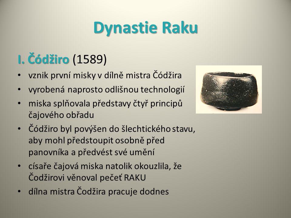 Dynastie Raku I. Čódžiro (1589)