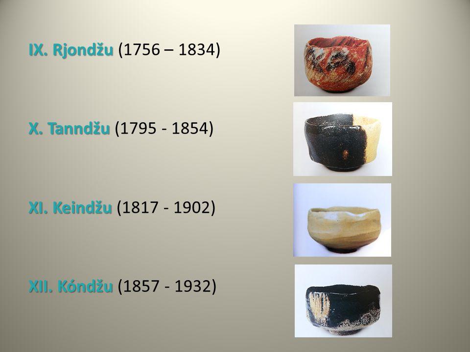 IX. Rjondžu (1756 – 1834) X. Tanndžu (1795 - 1854) XI