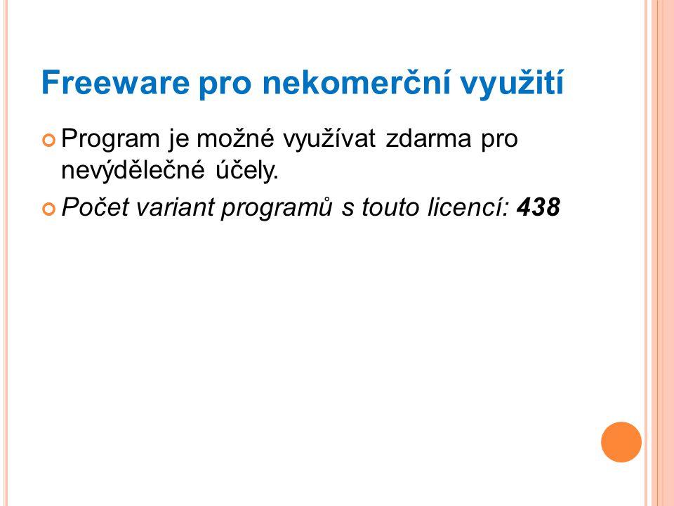 Freeware pro nekomerční využití