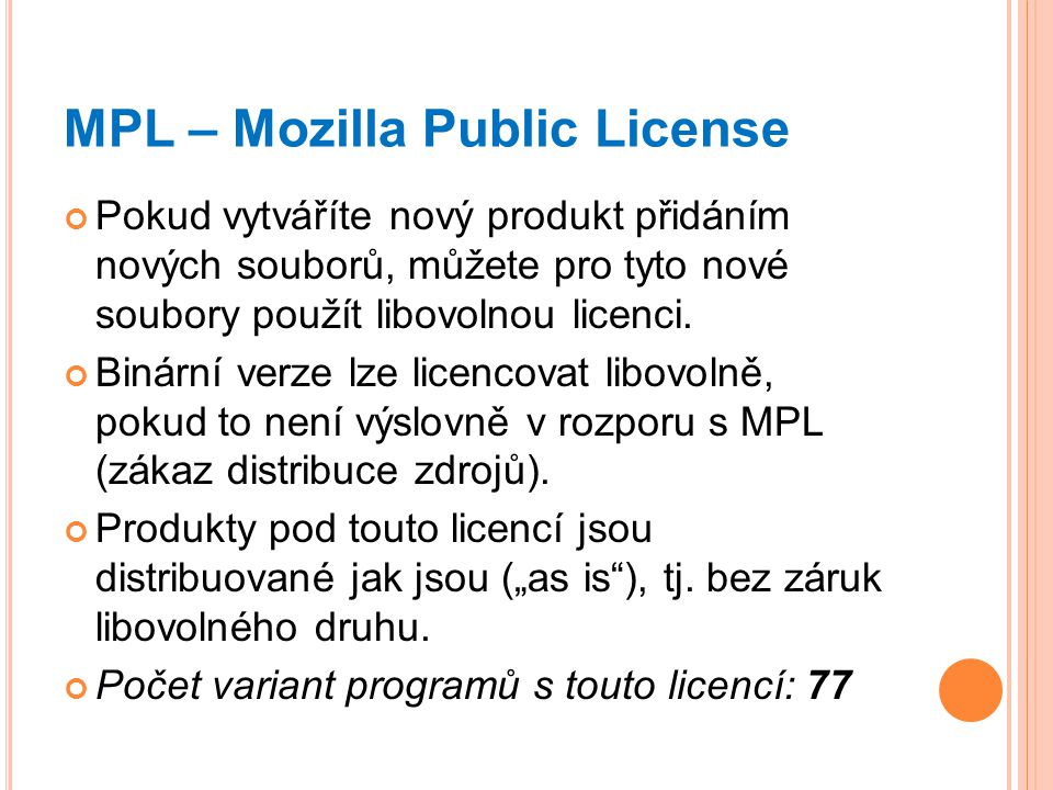 MPL – Mozilla Public License
