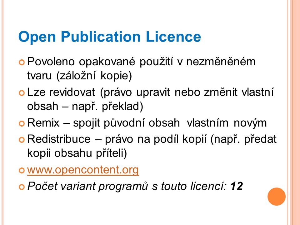 Open Publication Licence
