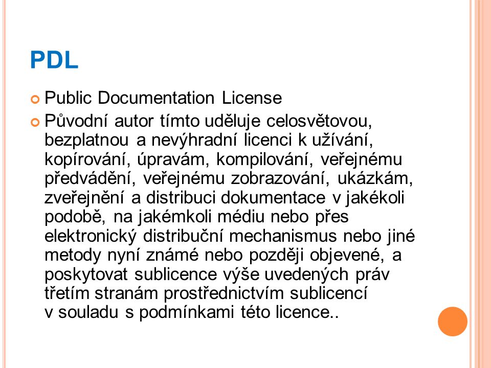 PDL Public Documentation License