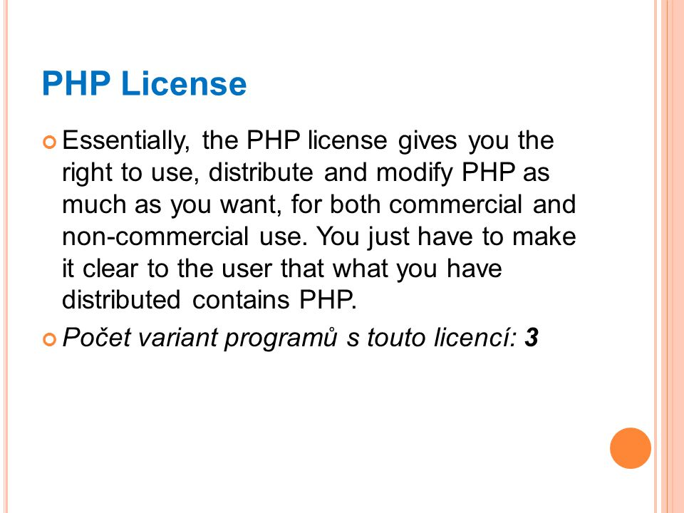 PHP License