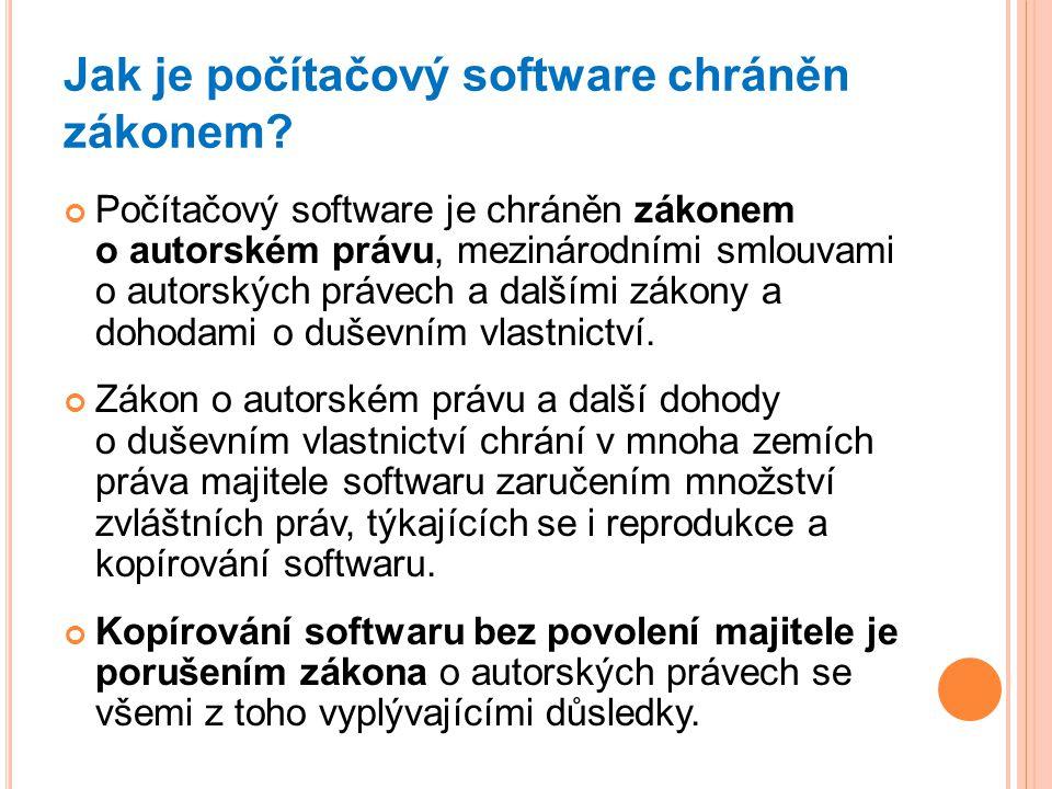 Jak je počítačový software chráněn zákonem
