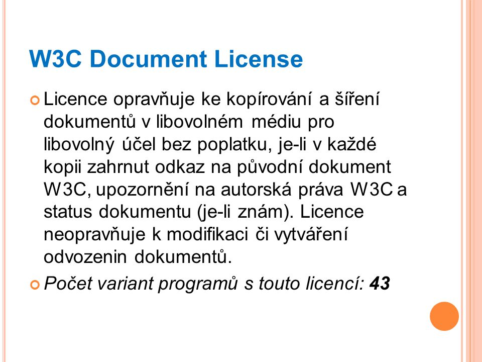 W3C Document License