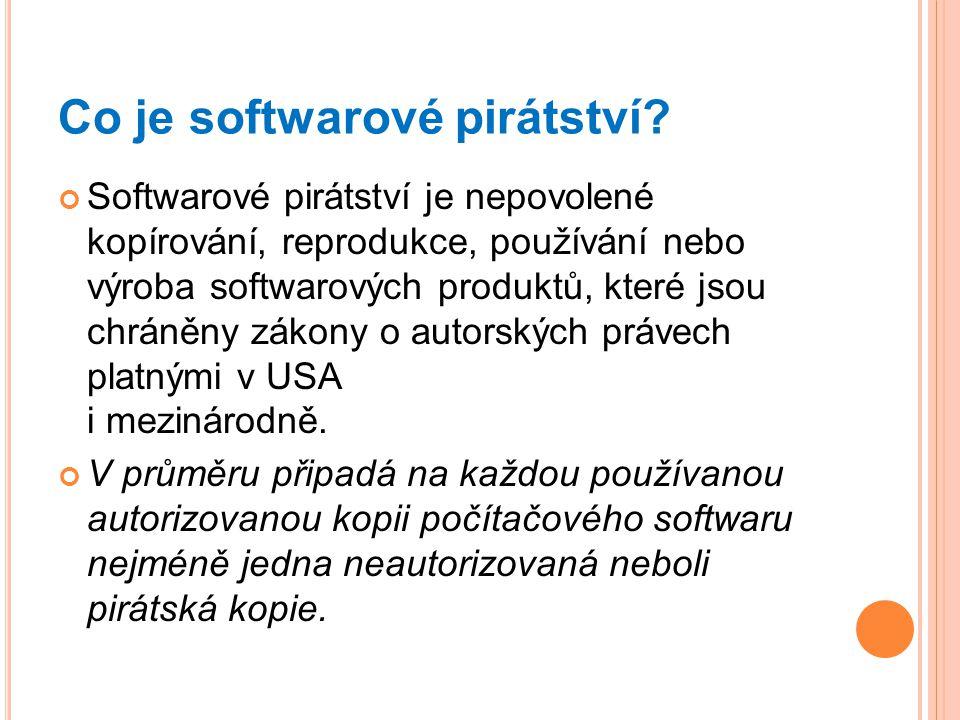 Co je softwarové pirátství