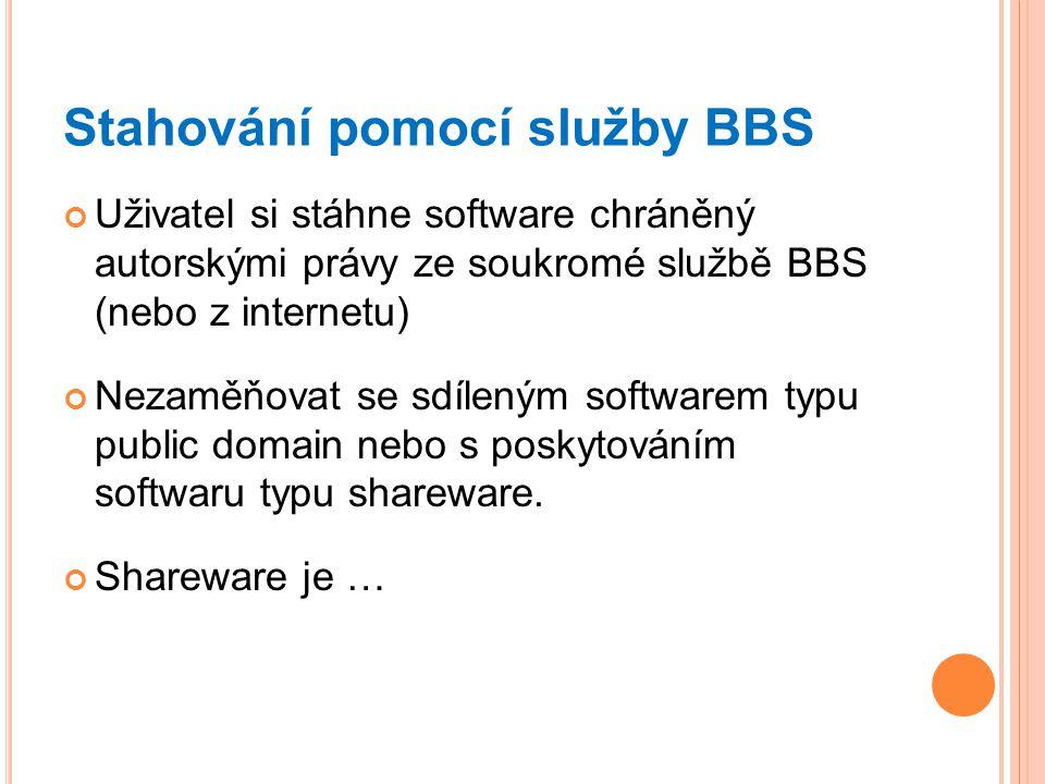 Stahování pomocí služby BBS