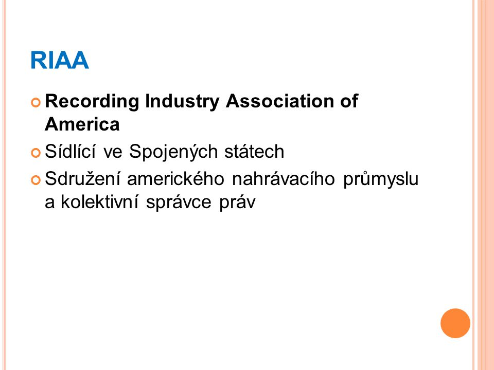 RIAA Recording Industry Association of America