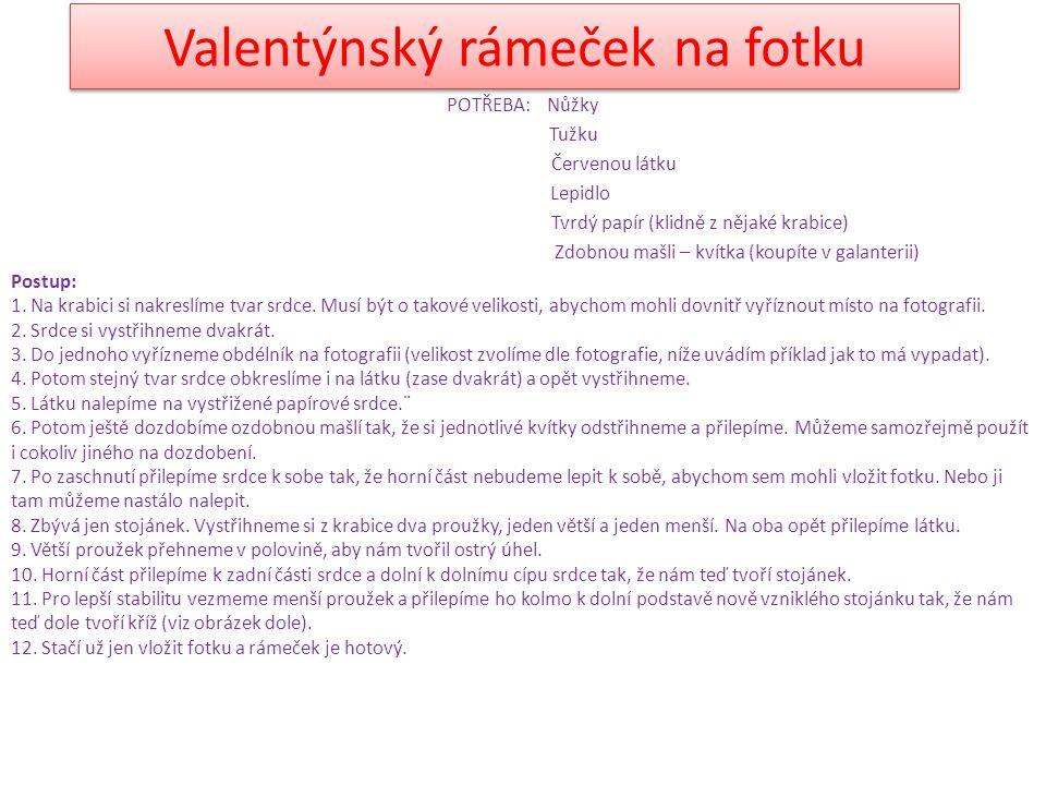 Valentýnský rámeček na fotku