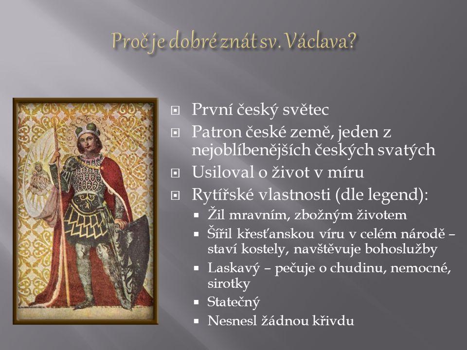 Proč je dobré znát sv. Václava