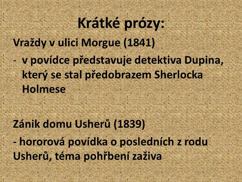 Krátké prózy: Vraždy v ulici Morgue (1841)