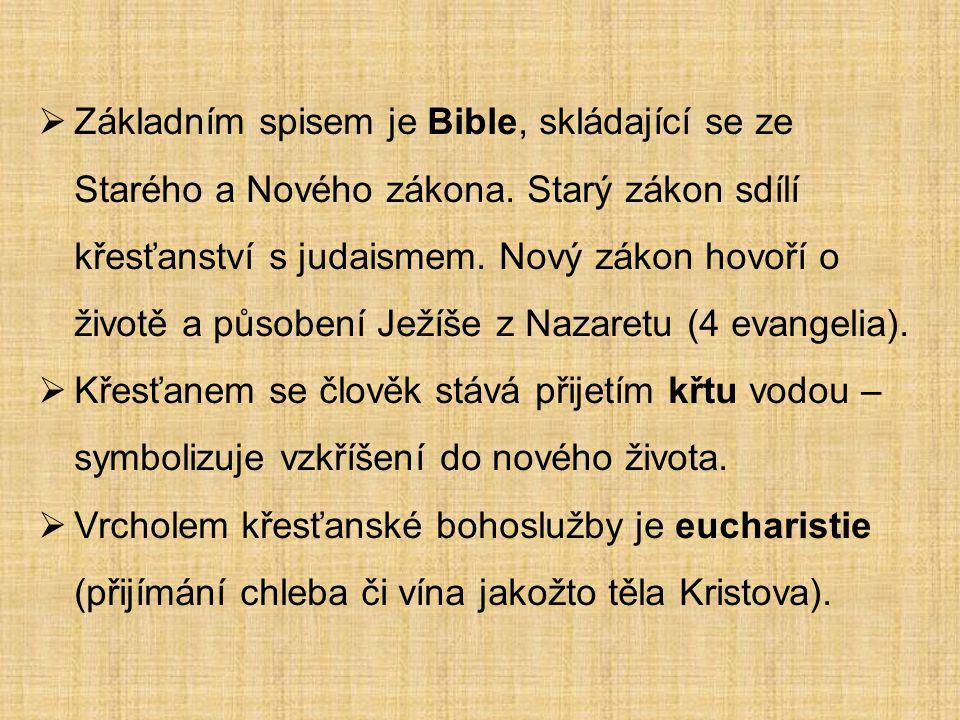Základním spisem je Bible, skládající se ze Starého a Nového zákona