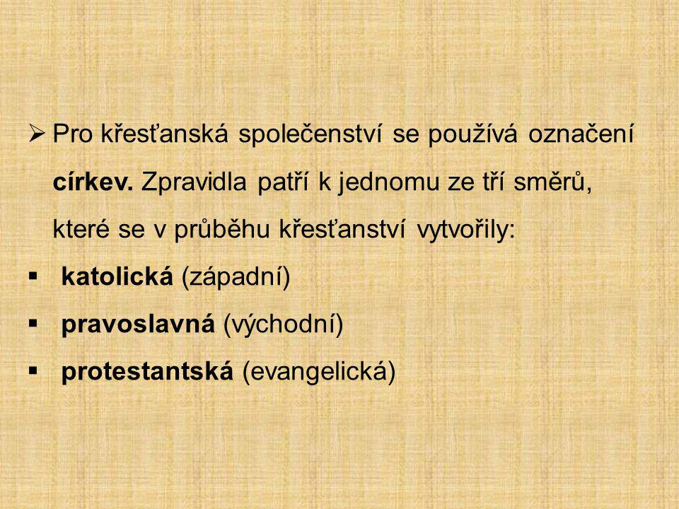 Pro křesťanská společenství se používá označení církev