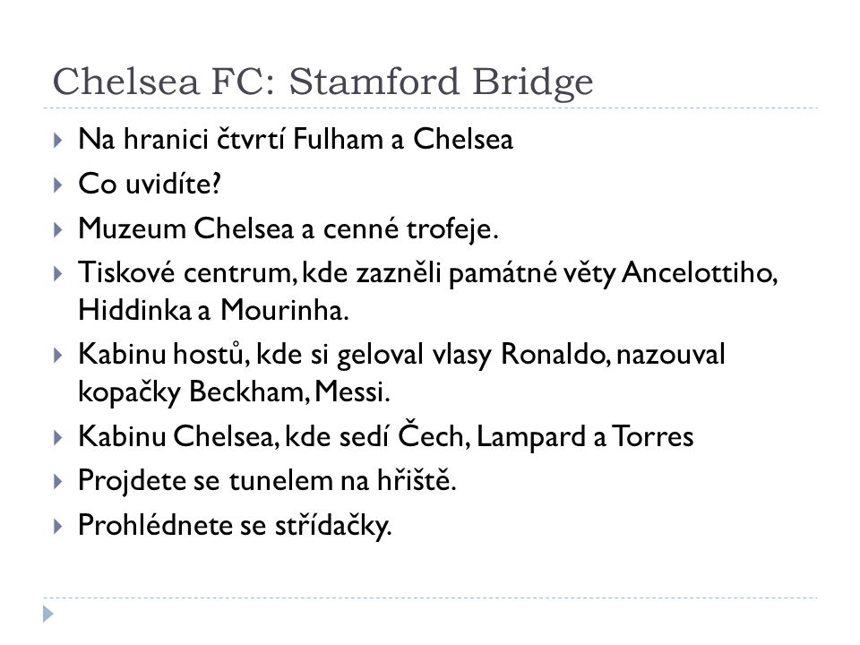 Chelsea FC: Stamford Bridge